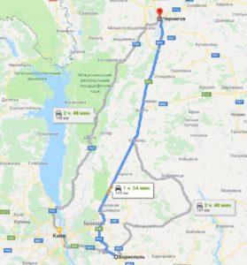 такси Борисполь - Чернигов