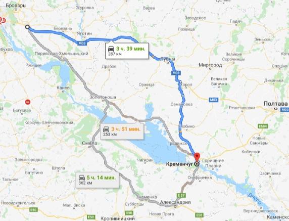 такси Борисполь - Кременчуг