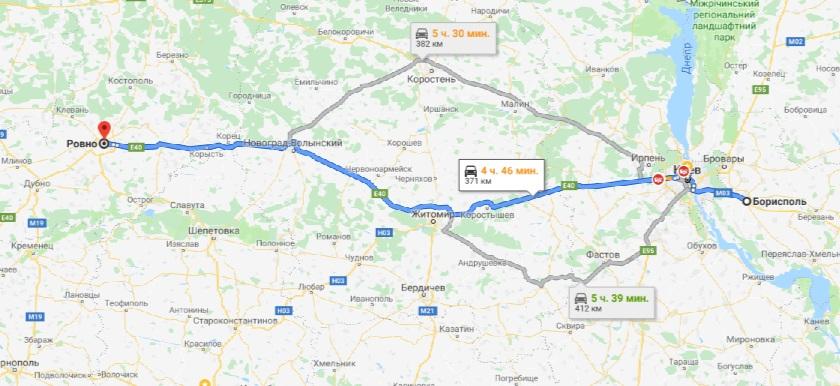 такси Борисполь - Ровно
