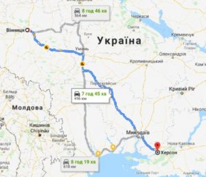 маршрут таксі ВІННИЦЯ - ХЕРСОН