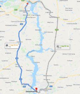 маршрут таксі ДНІПРО - ЗАПОРІЖЖЯ