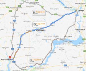 маршрут таксі ДНІПРО - МИКОЛАЇВ